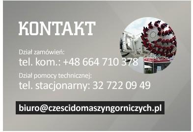 Części do Maszyn Górniczych - Kontakt